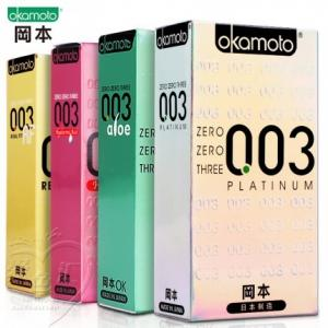 冈本 003系列超薄避孕套10只装(货号:H3017)
