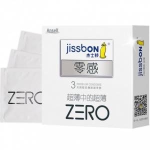 杰士邦 ZERO零感超薄避孕套 3只装(货号:H3047)