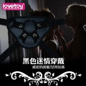 lovetoy 黑色女同阳具穿戴裤(货号:D6015)
